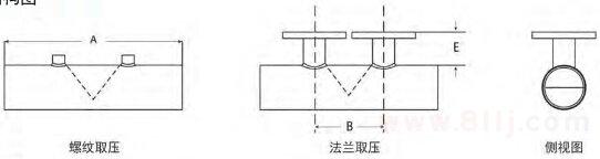 直焊型楔式流量计外形结构图