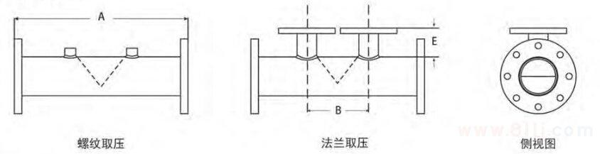 楔式流量计外形结构图