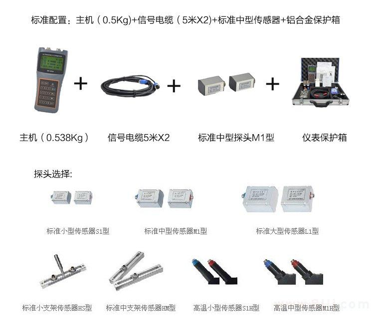 便携超声波流量计的组件